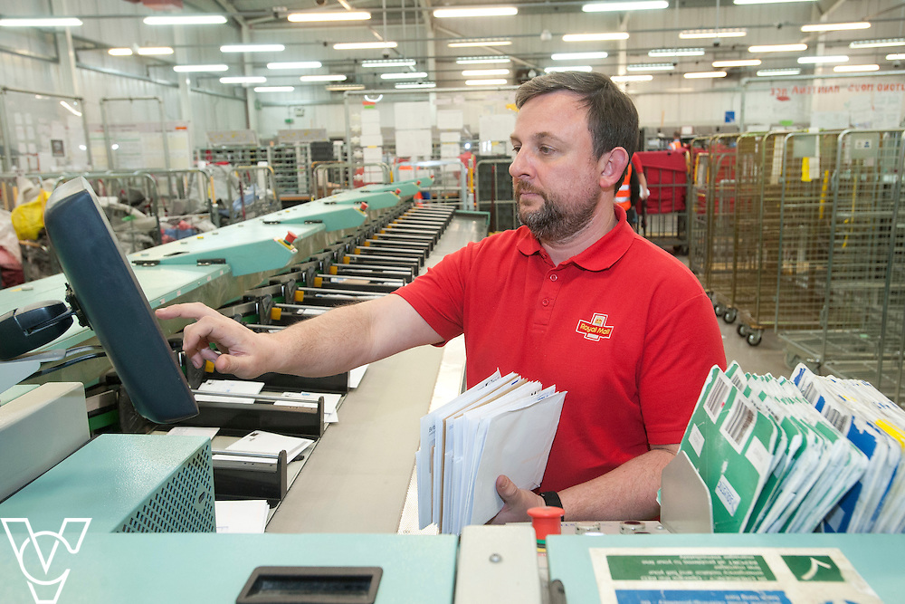 Pictured is David Swettenham<br /> <br /> Royal Mail - North West Delivery Office.  Bronze in the World Class Mail Awards.<br /> <br /> Date: April 28, 2015