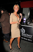 31.MAY.2011. LONDON<br /> <br /> AISLEYNE HORGAN-WALLACE ATTENDS THE LAUNCH PARTY FOR HD BROWS AT EMBASSY NIGHT CLUB IN MAYFAIR.<br /> <br /> BYLINE: EDBIMAGEARCHIVE.COM<br /> <br /> *THIS IMAGE IS STRICTLY FOR UK NEWSPAPERS AND MAGAZINES ONLY*<br /> *FOR WORLD WIDE SALES AND WEB USE PLEASE CONTACT EDBIMAGEARCHIVE - 0208 954 5968*
