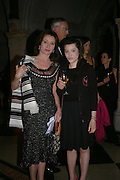 Cherie and Nathalie Lunghi. Great Britons 2004. Royal Courts Of Justice, London, WC2, 27 january 2005.  ONE TIME USE ONLY - DO NOT ARCHIVE  © Copyright Photograph by Dafydd Jones 66 Stockwell Park Rd. London SW9 0DA Tel 020 7733 0108 www.dafjones.com
