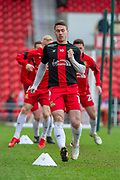 Doncaster Rovers Midfielder Tommy Rowe (10) warming up for the EFL Sky Bet League 1 match between Doncaster Rovers and Bristol Rovers at the Keepmoat Stadium, Doncaster, England on 27 January 2018. Photo by Craig Zadoroznyj.