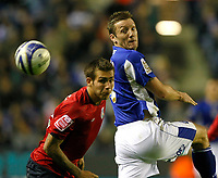 Photo: Steve Bond/Richard Lane Photography. Leicester City v West Bromwich Albion. Coca Cola Championship. 07/11/2009. Steve Howard heads past Joe Mattock