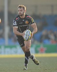 Phil Dollman of Exeter Chiefs on the run.  - Mandatory byline: Alex Davidson/JMP - 12/03/2016 - RUGBY - Sandy Park -Exeter Chiefs,England - Exeter Chiefs v Newcastle Falcons - Aviva Premiership