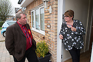 Jim Sheridan, Labour member of parliament for Paisley and Renfrewshire North canvassing.