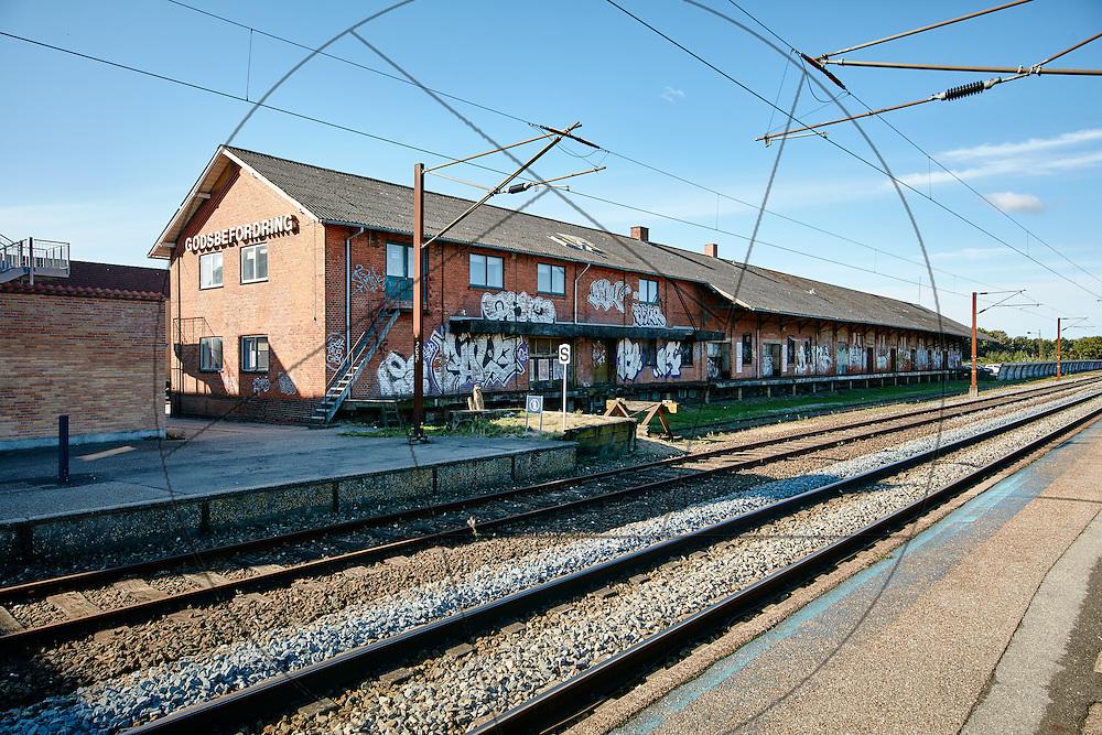 """Godset, """"Godset"""" i Slagelse , registrering før bygning af Campus SDU Slagelse, , jernbanespor, togskinner,"""