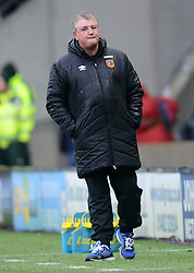 Hull City Manager, Steve Bruce looks on dejectedly - Photo mandatory by-line: Richard Martin-Roberts/JMP - Mobile: 07966 386802 - 31/01/2015 - SPORT - Football - Hull - KC Stadium - Hull City v Newcastle United - Barclays Premier League