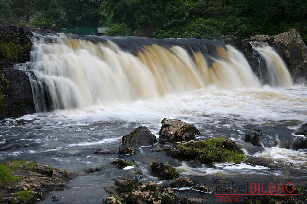 waterfall in Erriff river.<br /> County Mayo. Republic of Ireland.