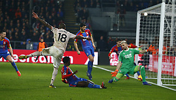 February 27, 2019 - London, England, United Kingdom - Manchester United's Ashley Young scores 3rd goal.during English Premier League between Crystal Palace and Manchester  United at Selhurst Park stadium , London, England on 27 Feb 2019. (Credit Image: © Action Foto Sport/NurPhoto via ZUMA Press)