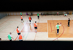 Players during practice session of Slovenian Handball Men National Team, on January 11, 2011, in Zrece, Slovenia. (Photo by Vid Ponikvar / Sportida)
