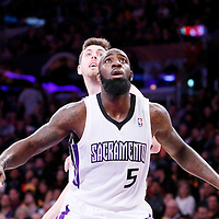 28 February 2014: Sacramento Kings small forward Quincy Acy (5) is seen during the Los Angeles Lakers 126-122 victory over the Sacramento Kings at the Staples Center, Los Angeles, California, USA.