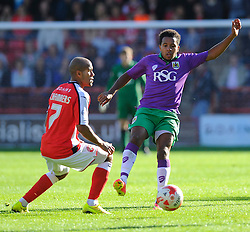 Bristol City's Korey Smith battles for the ball with Walsall's Adam Chambers - Photo mandatory by-line: Joe Meredith/JMP - Mobile: 07966 386802 - 04/10/2014 - SPORT - Football - Walsall - Bescot Stadium - Walsall v Bristol City - Sky Bet League One