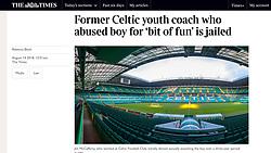 The Times; Celtic Park football stadium