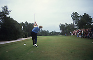 Laura Davies hits the first shot for Europe <br /> The inaugural Solheim Cup competition took place in Orlando, Florida, United States at Lake Nona Golf &amp; Country Club from November 16 to November 18, 1990. The United States team beat the European team 11&frac12; points to 4&frac12;.<br /> <br /> Picture Credit:  Mark Newcombe / www.visionsingolf.com