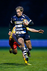 Bristol Rugby Winger Ryan Edwards Bristol Rugby Winger Charlie Amesbury in action - Mandatory byline: Rogan Thomson/JMP - 17/01/2016 - RUGBY UNION - Clifton Rugby Club - Bristol, England - Scarlets Premiership Select XV v Bristol Rugby - B&I Cup.