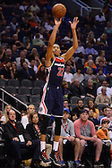 Apr 1, 2016; Phoenix, AZ, USA; Washington Wizards forward Otto Porter Jr. (22) shoots a basket against the Phoenix Suns in the first half at Talking Stick Resort Arena. Mandatory Credit: Jennifer Stewart-USA TODAY Sports