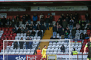 Forest Green Rovers away support during the EFL Sky Bet League 2 match between Stevenage and Forest Green Rovers at the Lamex Stadium, Stevenage, England on 26 January 2019.
