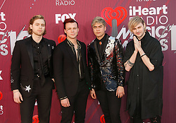 2019 iHeartRadio Music Awards which broadcasted live on FOX at Microsoft Theater on March 14, 2019 in Los Angeles, California. Photo: imageSPACE/MediaPunch. 14 Mar 2019 Pictured: Ashton Irwin, Luke Hemmings, Michael Clifford and Calum Hood - 5. Photo credit: imageSPACE / MEGA TheMegaAgency.com +1 888 505 6342
