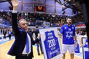 DESCRIZIONE : Brindisi  Lega A 2015-16 Enel Brindisi Pasta Reggia Juve Caserta<br /> GIOCATORE : GIOCATORE : Piero Bucchi Andrea Zerini<br /> CATEGORIA : Before Pregame Allenatore Coach Mani<br /> SQUADRA : Enel Brindisi<br /> EVENTO : Enel Brindisi Pasta Reggia Juve Caserta<br /> GARA :Enel Brindisi  Pasta Reggia Juve Caserta<br /> DATA : 24/04/2016<br /> SPORT : Pallacanestro<br /> AUTORE : Agenzia Ciamillo-Castoria/M.Longo<br /> Galleria : Lega Basket A 2015-2016<br /> Fotonotizia : <br /> Predefinita :