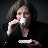 Custom headshot with espresso cup, Creative Commercial Photography by Pettepiece Photography, Tucson