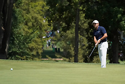 August 10, 2018 - St. Louis, Missouri, United States - Sergio Garcia putts the 9th hole during the second round of the 100th PGA Championship at Bellerive Country Club. (Credit Image: © Debby Wong via ZUMA Wire)