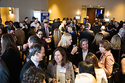 Attendees network during the Bay Area Corporate Counsel Awards at The Westin San Francisco Airport in Millbrae, California, on March 18, 2019. (Stan Olszewski for Silicon Valley Business Journal)