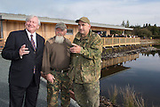 REPRO FREE: 13/10/2014<br /> Mr. John Horgan, Chairman, Bord na M&oacute;na is pictured Paddy Kelly Captive Breeding Manager and Kevin Sadler, Head Keeper of the Wild Grey Partrige breeding programe at the official opening Bord na M&oacute;na&rsquo;s new &euro;1.5 million euro development, which sees a new visitor centre and facilities&rsquo; in Lough Boora Discovery Park, Co. Offaly. Picture Andres Poveda<br /> <br /> For further info contact:<br /> Daith&iacute; de R&oacute;iste<br /> Press Officer<br /> Bord na M&oacute;na<br /> 087 612 3999  <br /> daithi.deroiste@bnm.ie