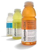 three bottles of vitamin water