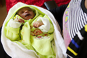 A new born baby on the ward, Uganda.