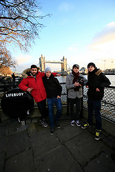 UK ENGLAND LONDON 5DEC12 - Chris Manazides (26), Sebastian Meichsner (26) of bullshittehvau, Ardian Bora (20) and Tom Ravach (22, L-R) of mirrorzfx shoot on location in central London during the YouTube NextUp training and mentorship programme.....25 winners from YouTube's NextUp competetion were selected to receive an all-expenses paid trip to London where they are attending a week of training and mentorship.....jre/Photo by Jiri Rezac....© Jiri Rezac 2012