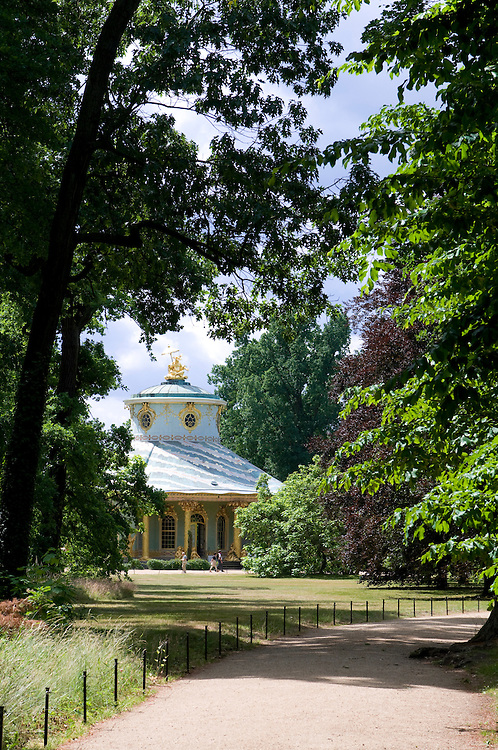 The chinese pavillion in the gardens of Sanssouci,Potsdam,Germany