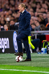 24-03-2019 NED: UEFA Euro 2020 qualification Netherlands - Germany, Amsterdam<br /> Netherlands lost the match 3-2 in the last minute / bondscoach Ronald Koeman of The Netherlands