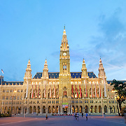 Neues Rathaus, Vienna's neo-Gothic City Hall. Designed by Friedrich Schmidt and modeled on the city hall in Brussels.