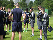 Dundee manager Neil McCann speaks to the squad during Dundee FC pre-season training at Michelin Grounds, Dundee, Photo: David Young<br /> <br />  - &copy; David Young - www.davidyoungphoto.co.uk - email: davidyoungphoto@gmail.com
