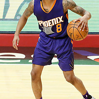 31 October 2016: Phoenix Suns guard Tyler Ulis (8) dribbles during the Los Angeles Clippers XX-YY victory over the Phoenix Suns, at the Staples Center, Los Angeles, California, USA.