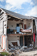 Living quarters in a church destroyed by Hurricane Katrina