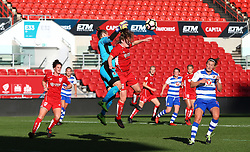Lauren Hemp of Bristol City Women challenges Mary Earps of Reading Women - Mandatory by-line: Gary Day/JMP - 22/04/2017 - FOOTBALL - Ashton Gate - Bristol, England - Bristol City Women v Reading Women - FA Women's Super League 1 Spring Series