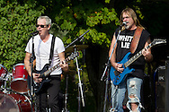 "Monroe, New York - The band ""White Lie"" plays at a benefit concert to save the plane at Airplane Park on Sept. 7, 2013. The concert was held in the parking lot of the Bourbon Street Bar and Grill. The the Korean War era F-86L jet was in danger of being removed from the park."