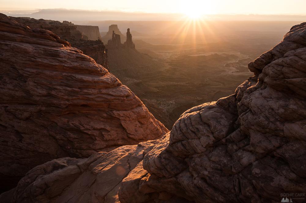 Sunrise at Mesa Arch in Canyonlands, Utah