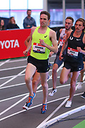 John Gregorek competes in the 1 mile run during the USA Indoor Track and Field Championships in Staten Island, NY, Sunday, Feb 24, 2019. (Rich Graessle/Image of Sport)