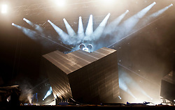 deadmau5 headline Saturday night on the main stage..Saturday at Rockness 2012..©Michael Schofield..