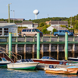 Boats in Wellfleet Harbor in  Wellfleet, Massachusetts. Cape Cod.