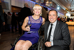 Mateja Pintar and Ervin Curlic at party of Slovenian Sports personality of the year 2015 annual awards presented on the base of Slovenian sports reporters, on December 8, 2015 in Cankarjev dom, Ljubljana, Slovenia. Photo by Vid Ponikvar / Sportida