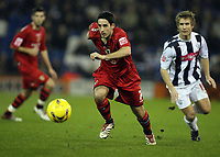 Photo: Rich Eaton.<br /> <br /> West Bromwich Albion v Cardiff City. Coca Cola Championship. 20/02/2007. Peter Whittingham left of Cardiff attacks