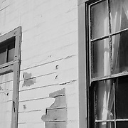 Maintenance Building Facade - Pigeon Point Lighthouse - Santa Cruz County, CA - Black & White