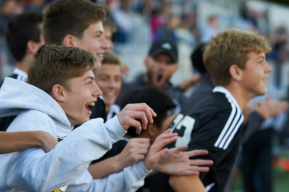 Quaker Valley High School vs Shady Side Academy in the 2016 AA WPIAL Boys Soccer Championships at Highmark Stadium in Pittsburgh, PA, on November 5, 2016.  Quaker Valley went on to win the match 2-1.  Photo: Shelley Lipton