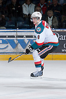 KELOWNA, CANADA - JANUARY 24:  Mitchell Wheaton #6 of the Kelowna Rockets skates on the ice against the Seattle Thunderbirds at the Kelowna Rockets on January 24, 2013 at Prospera Place in Kelowna, British Columbia, Canada (Photo by Marissa Baecker/Shoot the Breeze) *** Local Caption ***