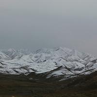 YONGCHANG:  die Qilian Berge bei Yongchang.