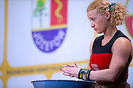 Marzena Karpinska from Poland (48kg category) competes during Women's Weightlifting Polish Cup 2014 in Jozefow near Warsaw on March 30, 2014.<br /> Marzena Karpinska won the first Women's Weightlifting Polish Cup.<br /> <br /> Poland, Jozefow, March 30, 2014<br /> <br /> Picture also available in RAW (NEF) or TIFF format on special request.<br /> <br /> For editorial use only. Any commercial or promotional use requires permission.<br /> <br /> Mandatory credit:<br /> Photo by © Adam Nurkiewicz / Mediasport