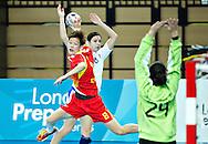 London Handball Cup - China vs Slovakia - Yao Li (CHN), Simona Pilekova (SVK), Zuzana Skolkova (SVK)