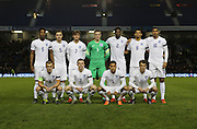 England U21 team photo during the UEFA European Championship Under 21 2017 Qualifier match between England and Switzerland at the American Express Community Stadium, Brighton and Hove, England on 16 November 2015.