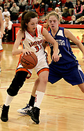Beavercreek's Kelsie Cooley (31) and Miamisburg's Allison Jaynes (2) at the Girls Division I sectional basketball finals, held at Troy High School, Saturday afternoon.